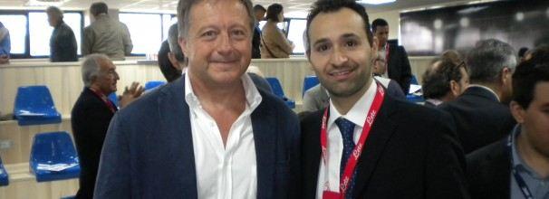 Il Prof. Dott. Antonio Pacilio con il Dott. Alfonso De Nicola al convegno della SSC Napoli