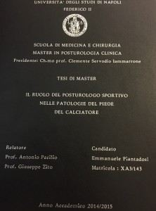tesi master posturologia relatore PROF. DOTT. ANTONIO PACILIO