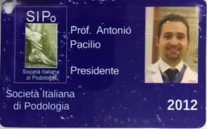 tesserino SIPO presidente Prof. Dr. Antonio Pacilio