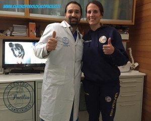 Il Prof. Dr. Antonio Pacilio e la campionessa di Basket Chiara Pastore, punto cardine della Nazionale Italiana di Basket
