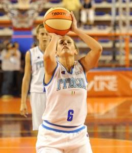 Il Prof. Dr. Antonio Pacilio e la campionessa di Basket Chiara Pastore