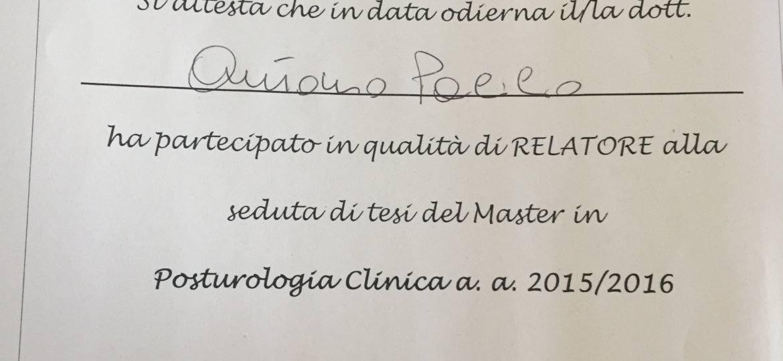 MASTER POSTUROLOGIA CLINICA NAPOLI