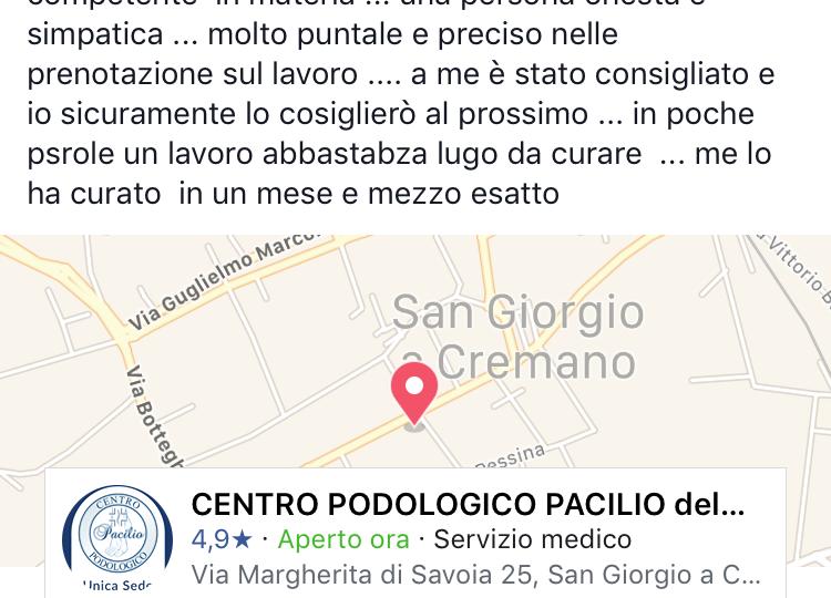 recensione podologo napoli prof. Pacilio