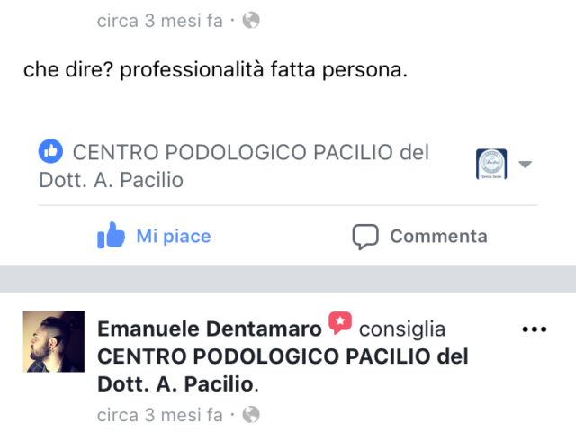 recensione Podologo e Posturologo Prof. Dr. Antonio Pacilio